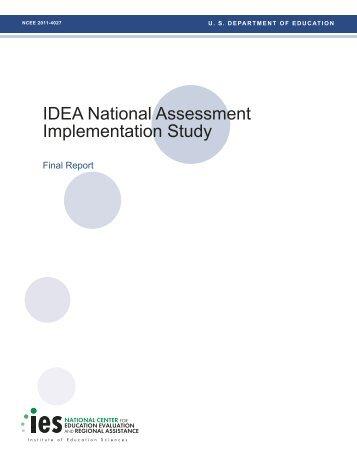 IDEA National Assessment Implementation Study - ED Pubs