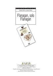 Flanagan, solo Flanagan - Anaya Infantil y Juvenil