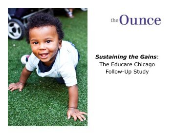 Sustaining the Gains - Ounce of Prevention Fund