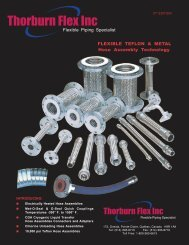 Metallic Hose Assemblies - Thorburn Flex Inc
