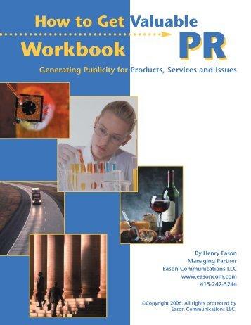 Eason PR Workbook - Eason Communications