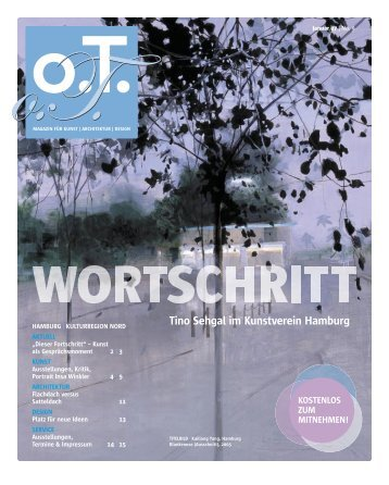 Tino Sehgal im Kunstverein Hamburg - Das Magazin für Kunst ...