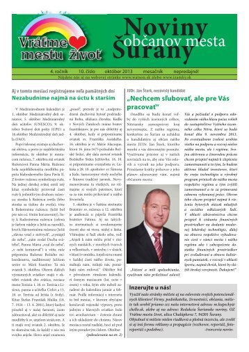Noviny Šurany - izamky.sk