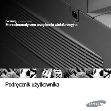 Instrukcja Obsługi Samsung Urządzenie Wielofunkcyjne SCX-6345NJ