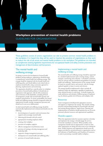 GUIDELINES for workplace prevention of mental health problems_0