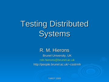 Testing distributed systems (pdf)