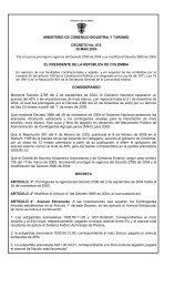 MINISTERIO DE COMERCIO INDUSTRIA Y TURISMO ... - Agronet