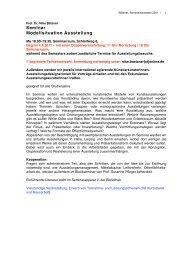 Seminar Modellsituation Ausstellung - Burg Giebichenstein