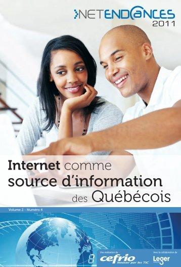 Internet comme source d'information des Québécois