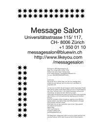 Message Salon - Sparwasser HQ