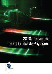 2010, une année avec l'Institut de Physique - Institut NÉEL - CNRS