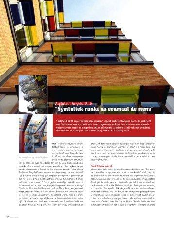 """""""Vrijheid biedt creativiteit open kansen"""" oppert architect ... - Dimension"""
