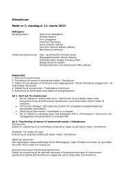 Klimaforum Møde nr.7, mandag d. 11. marts 2013 - Fredensborg Kommune