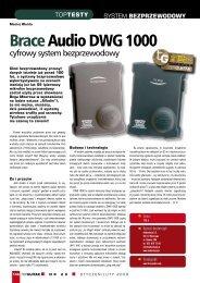 Brace Audio DWG 1000 Top Guitar styczeń 2009 - Audiostacja