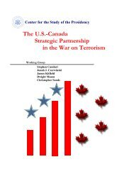 The U.S.-Canada Strategic Partnership in the War on Terrorism