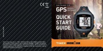 ©2013 Timex Group USA, Inc. TIMEX, TRIATHLON, INDIGLO, RUN ...