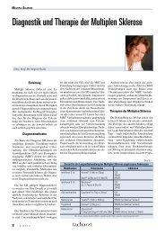 Diagnostik und Therapie der Multiplen Sklerose