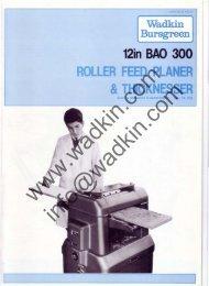 12in BAO 300 ROLLER FEED PLANER &THICKNESSER - Wadkin