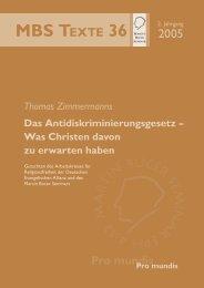 Thomas Zimmermanns Das Antidiskriminierungsgesetz