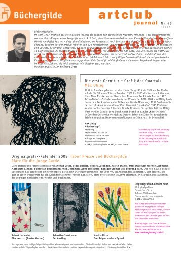 Journal Nr. 43 (IV/2007) - Der Frankfurter Grafikbrief