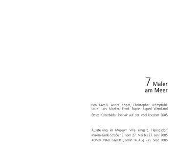 Usedom Katalog mit Vorsatz - Galerie Rose