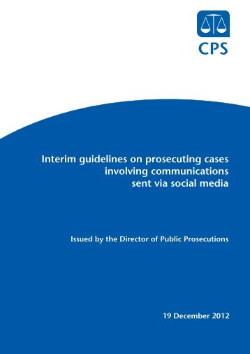 Interim guidelines - Crown Prosecution Service