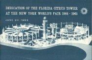 Florida Citrus Tower - Dedication - June 24, 1963 - WorldsFairPhotos