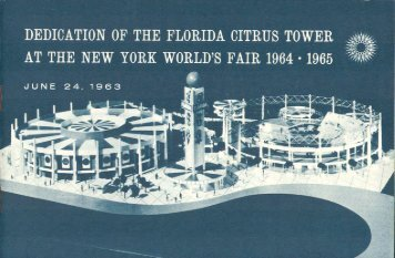 Florida Citrus Tower - Dedication - June 24, 1963 - WorldsFairPhotos