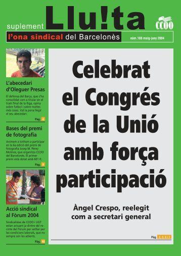 169. Ona sindical | maig - CCOO de Catalunya