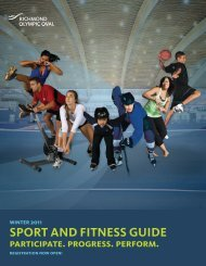 SPORT AND FITNESS GUIDE - Richmond Olympic Oval