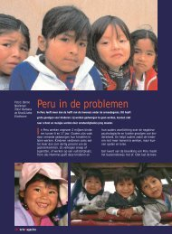 Peru in de problemen - Terre des Hommes