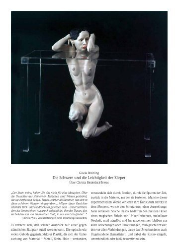 Die Schwere und die Leichtigkeit der Körper - Galerie Rose