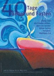 40 Tage Gebet und Fasten».pdf - Fastengebet