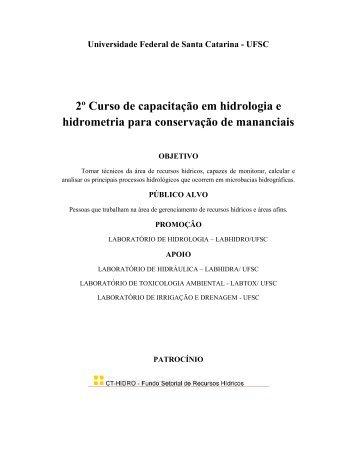 2º Curso de capacitação em hidrologia e ... - PRPPG - CIAMB