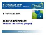 Lernfestival 2011 NUR FÜR NEUGIERIGE! Only for the ... - EUROlocal