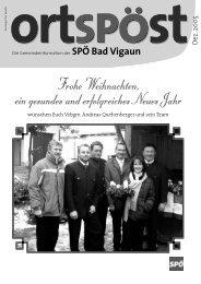 Ortspost Dezember 2005 - SPOE Bad Vigaun