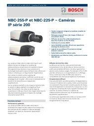NBC-255-P et NBC-225-P – Caméras IP série 200 - SERIE