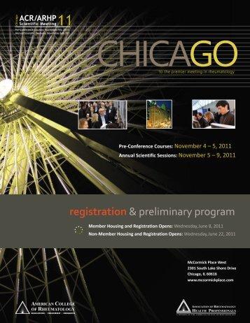 registration & preliminary program - Confex