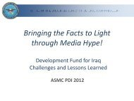 Development Fund for Iraq Challenges and Lessons - PDI 2012
