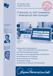 IT-Security vs. GxP-Compliance – Widerspruch oder Synergie?