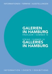 Galerien in HaMBUrG Galleries in HaMBUrG