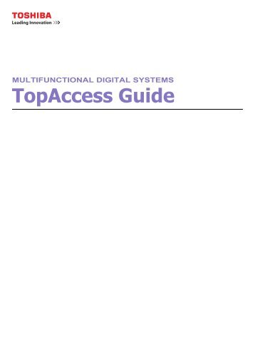 Top Access Guide - Zoom Imaging Solutions, Inc.