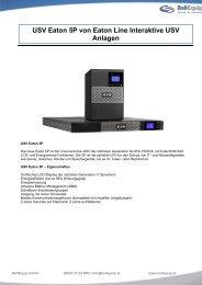 USV Eaton 5P von Eaton Line Interaktive USV ... - BellEquip GmbH