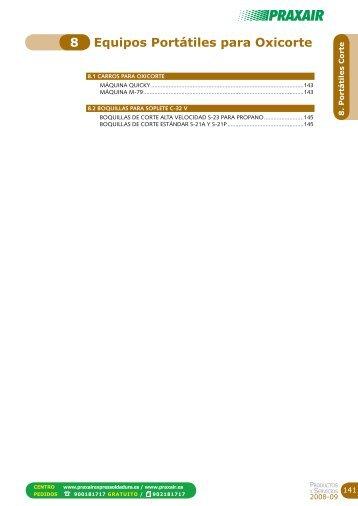 Equipos Portátiles para Oxicorte 8 - Praxair