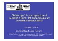 Diabete tipo 2 in una popolazione di immigrati a Roma: dati ...