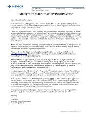IMPORTANT ADJUNCT STUDY INFORMATION - Mentor