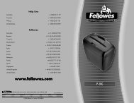P-35C Manual-2006 - Fellowes