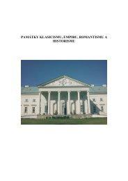 Památky klasicismu, empíru, romantismu a historismu - texty