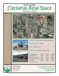 Clackamas Retail Space - Commercial Realty Advisors