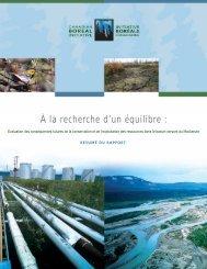 Lire le résumé du rapport - Initiative boréale canadienne